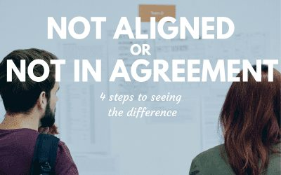 Not Aligned or Not In Agreement? 4 Steps to Seeing the Difference