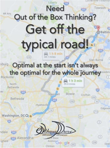 Need Out of the Box Thinking? Get off the typical road!