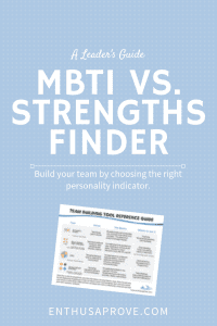 MBTI vs. Strengths Finder