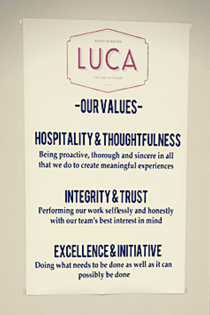 Luca Team Values